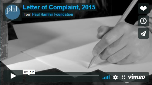Letter of Complaint, 2015