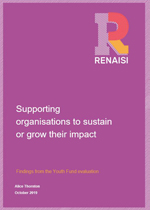 Supporting organisations to sustain or grow their impact: Findings from the Youth Fund evaluation