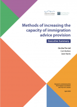 Methods of increasing the capacity of immigration advice provision: Executive Summary