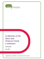 Evaluation of the Ideas and Pioneers Fund: a summary